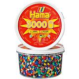 HAMA 210 midi-Perlen-Dose, 3000 Stück, Mix 22 Farben