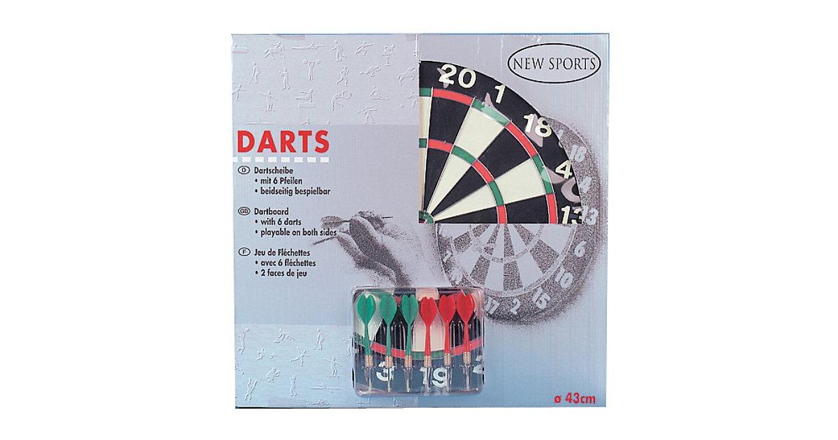 Dart-Board mit Pfeilen, 43 cm Ø