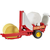 BRUDER 02122 PSL Baler with Round Bales (bw/yellow)