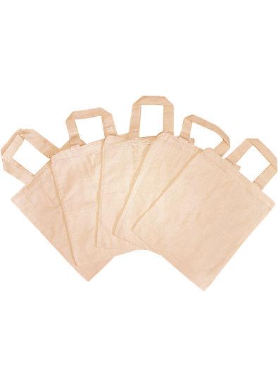 Taschen klein zum Selbstgestalten, Baumwolle, 5 Stück