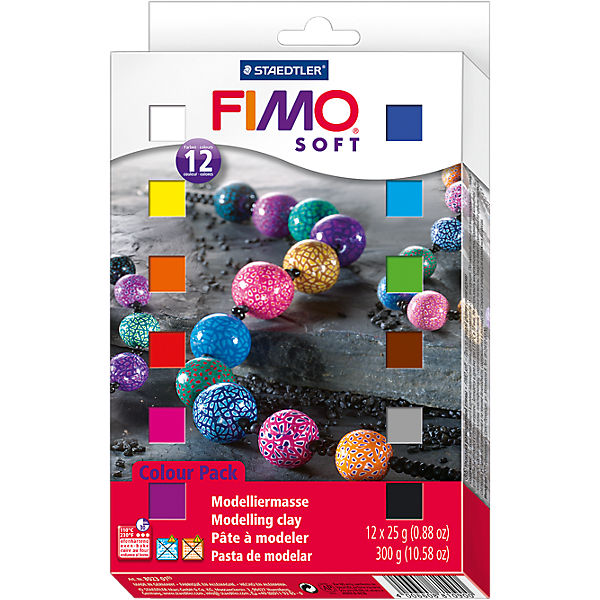 FIMO soft Basic-Set, 12 x 25 g