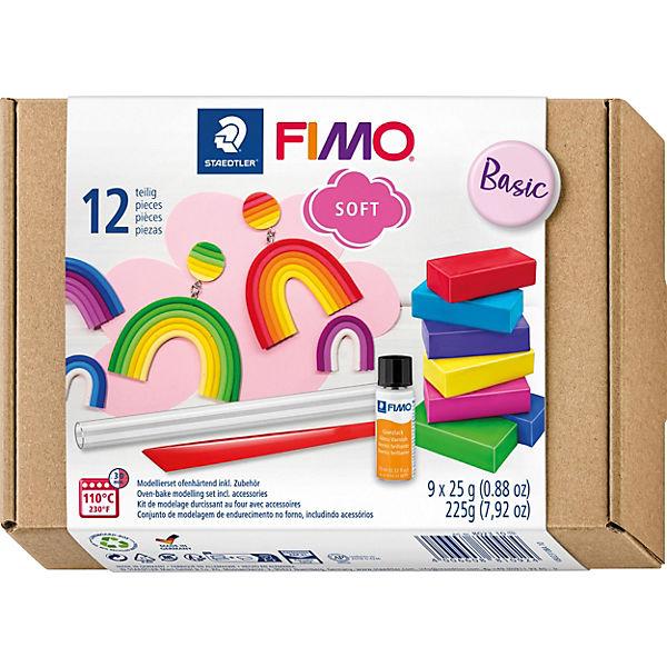fimo soft basic set 9 x 25 g inkl glanzlack zubeh r. Black Bedroom Furniture Sets. Home Design Ideas