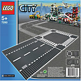 LEGO 7280 City: Straight/Crossroads (2 Pieces)