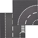 LEGO 7281 City: Kurve/T-Kreuzung (2 Teile)