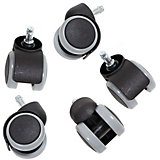 Hard Floor Castors for Swivel Chairs, Retrofit Set