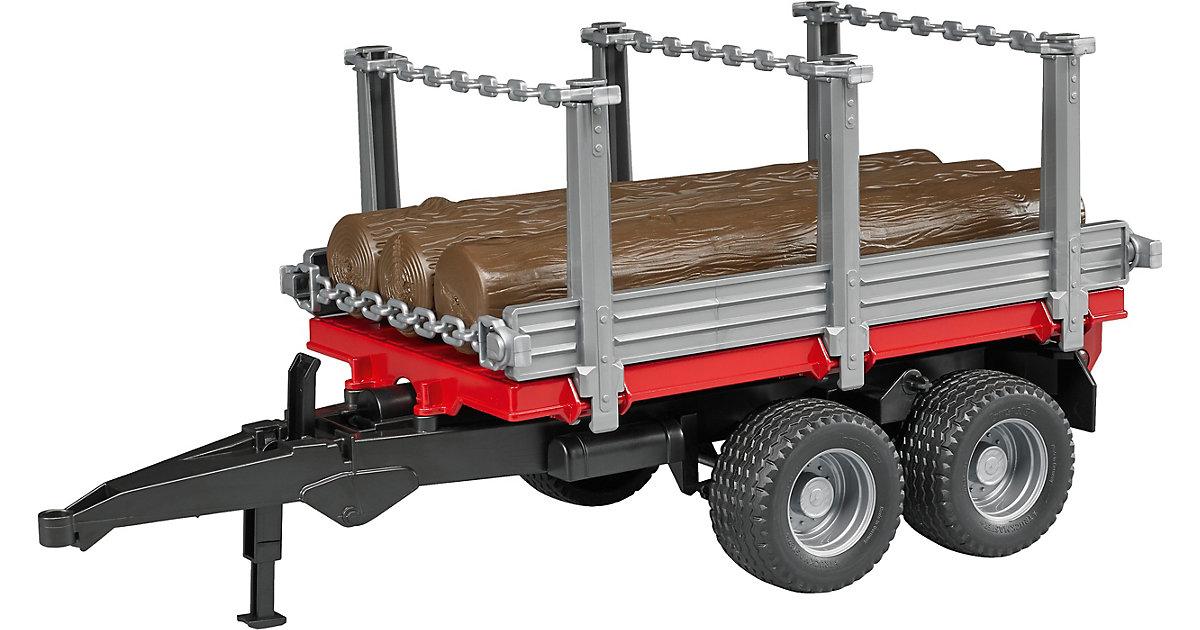 BRUDER 02213 Holztransportanhänger m.3 Stämmen