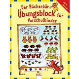 Der Bücherbär Übungsblock für Vorschulkinder
