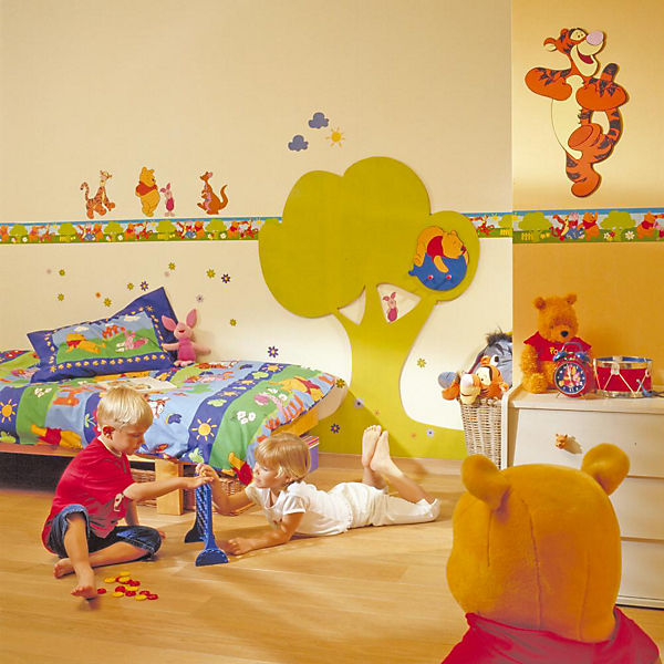 wandsticker winnie the pooh acre wood disney winnie puuh. Black Bedroom Furniture Sets. Home Design Ideas