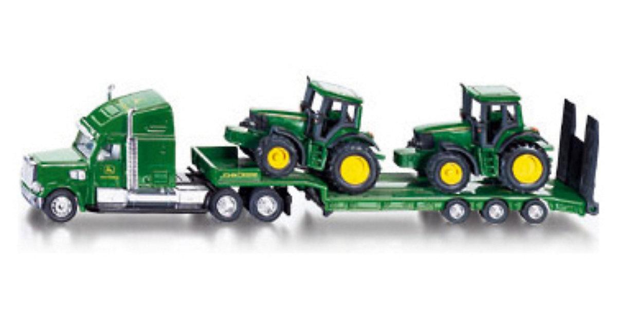 1837 Tieflader mit 2 John Deere Traktoren 1:87