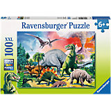 XXL Jigsaw - 100 Pieces - Among Dinosaurs