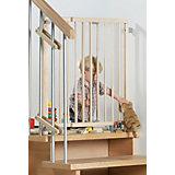 Schwenk- Treppenschutzgitter 99,5 -140 cm, natur