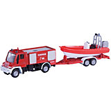 SIKU 1636 Unimog Fire Services With Boat 1:87