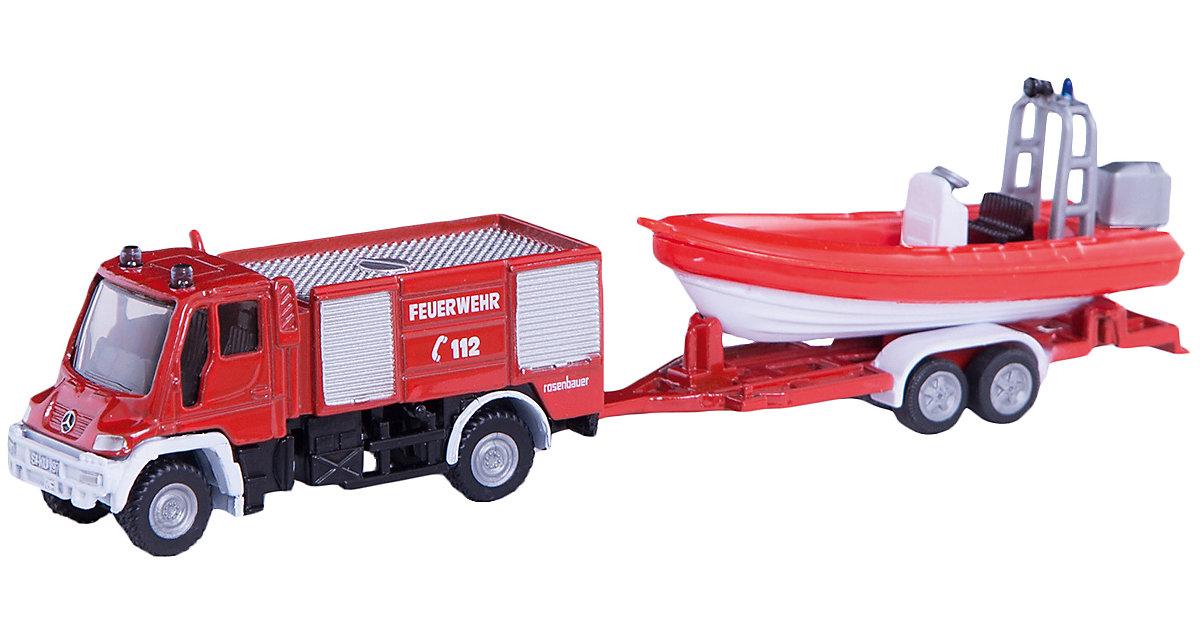 1636 Unimog Feuerwehr mit Boot 1:87