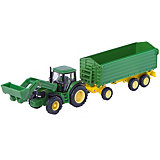 SIKU 1843 John Deere with Front Loader/Trailer  1:87