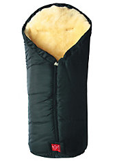 Fußsack Iglu mit Lammfell, schwarz