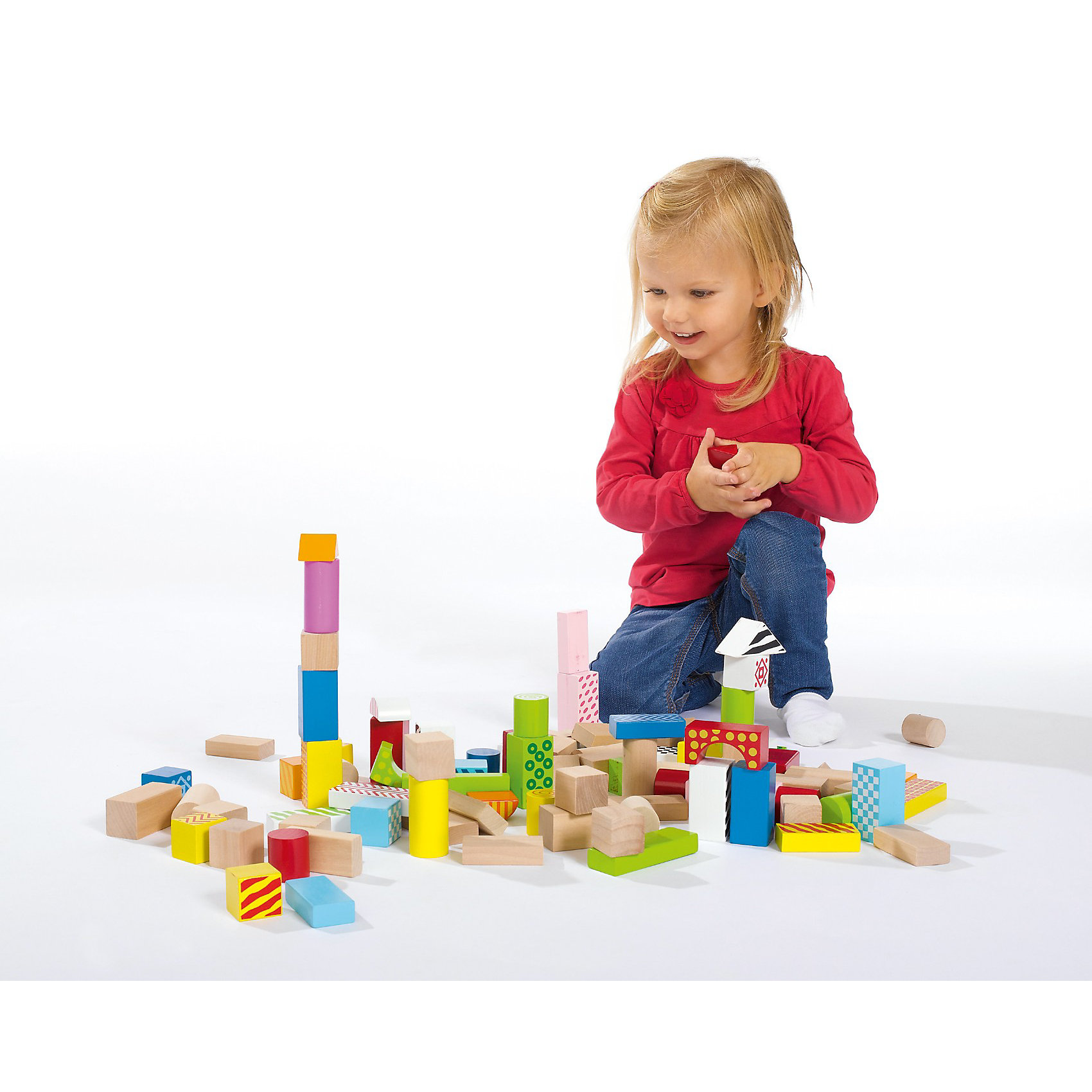 Wooden Building Blocks Colour Eichhorn myToys