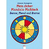 Mein dicker Mandala-Malblock, Sonne, Mond und Sterne