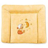 Wickelauflage Softy, Kuschelbär, apricot, Folie, 85 x 75 cm