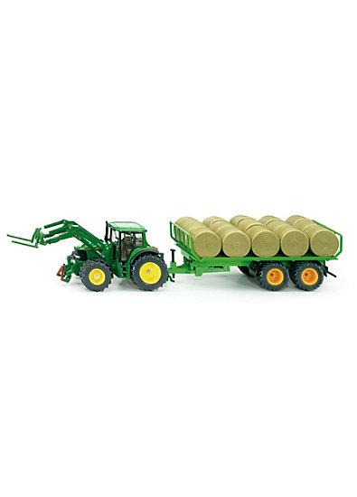 SIKU 3862 Traktor mit Rundballenanhänger  1:32