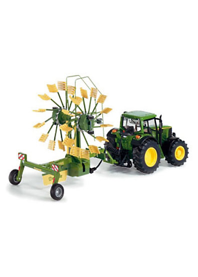 SIKU 6782 Control 32 RC - Traktor 2-Kreisel-Schwader 1:32