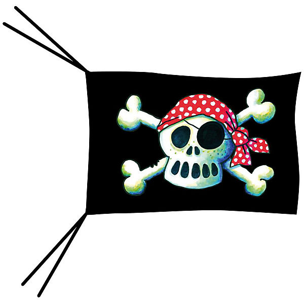 Piratenflagge Pit Planke groß