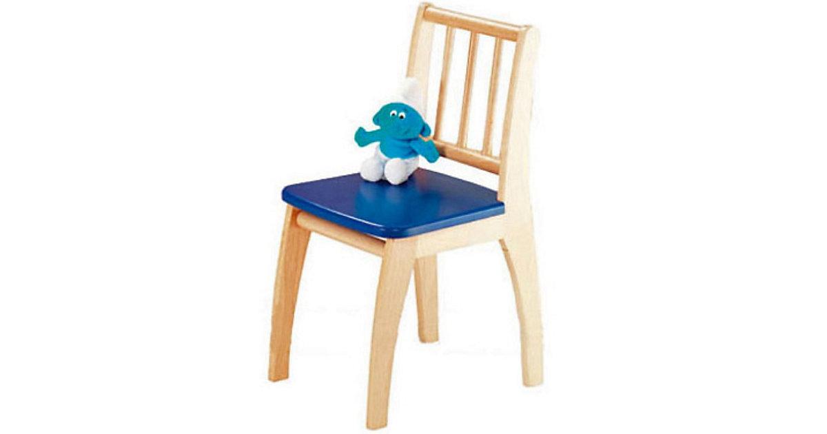 Kinderstuhl Bambino, Buche teilmassiv, blau kolonial