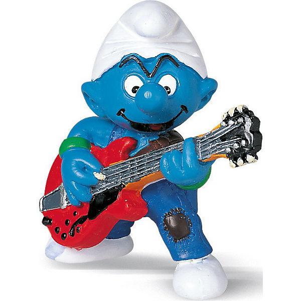 """Фигурка """"Смурфики"""" - Гномик с гитарой, Schleich"""