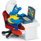 Schleich Smurfs: Smurf with Laptop