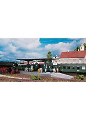 PIKO Spur H0 Bausatz Bahnsteig Burgstein