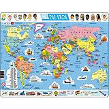 Rahmenpuzzle 107 Teile Die Erde (politisch)