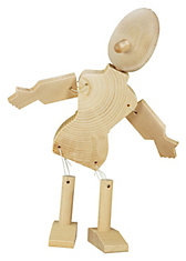 Holz-Bausatz Marionetten, 2 Stück