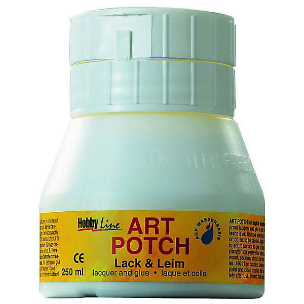 Hobby Line Art Potch Serviettenkleber & Lack matt, 250 ml