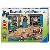 XXL Jigsaw, 100 Pieces, At the Stables