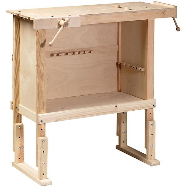 Kinderwerkbank aus Holz, h u00f6henverstellbar, Pebaro   myToys