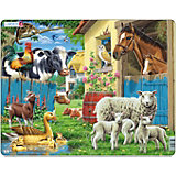 """Пазл """"Животные фермы"""", 23 детали, Larsen"""