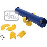 Teleskop-Fernrohr blau/gelb