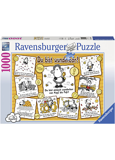 puzzle 1000 teile sheepworld du bist wunderbar ravensburger teile mytoys. Black Bedroom Furniture Sets. Home Design Ideas