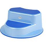 Trittschemel De Luxe, 2-stufig, perl-blau