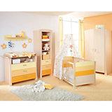 Komplett Kinderzimmer SUNSET, 3-tlg. (Kinderbett, Wickelkommode und 2-türiger Kleiderschrank)