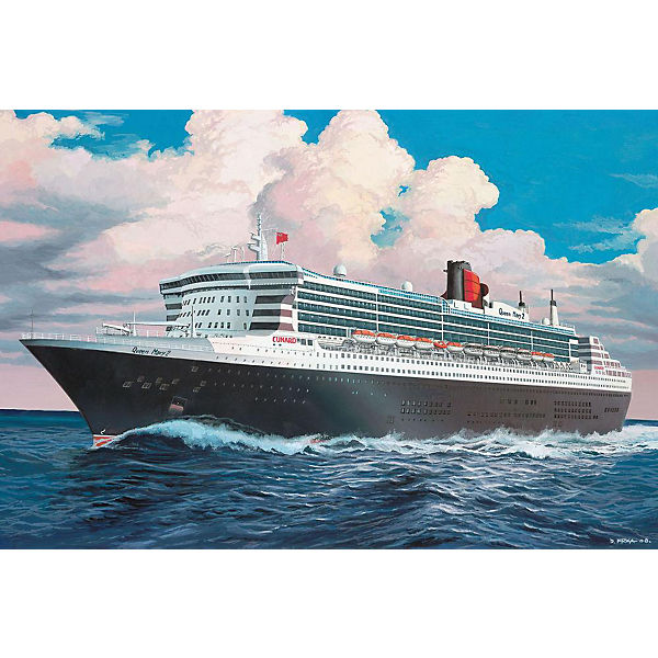 Лайнер Queen Mary 2 (1:1200)