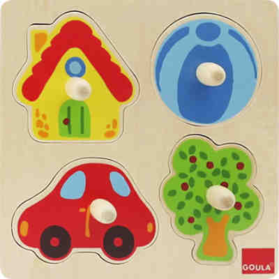 GOULA Holzpuzzle- 4 Teile- Zu Hause