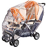 Rain Cover for Double Strollers, Navy Blue