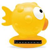 """Термометр для ванны 0мес.+ """"Рыба-Шар"""", CHICCO, жёлтый"""