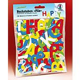 Stanzteile Filz Buchstaben, 150 Stück in 5 Farben