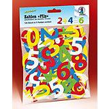 Stanzteile Filz Zahlen, 120 Stück in 5 Farben