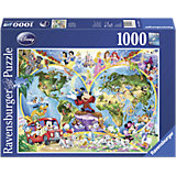 Jigsaw Puzzle - 1,000 Pieces - Disney's World Map