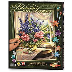"""Роспись по номерам """"Цветы на столе"""", 40х50"""