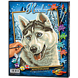 Paint by Numbers for Kids: Husky