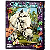 """Malen nach Zahlen für Kids Pferd """"White Beauty"""""""
