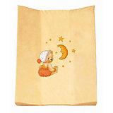 Wickelauflage 2-Keil Mulde, Kuschelbär apricot, 60 x 71 cm